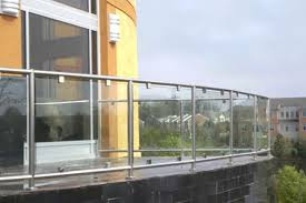 Glass Handrails For Stairs Stainless Steel Glass Guardrails Glass Railing System