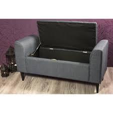 Schlafzimmer Bank Grau Komfortable Truhenbank In Grau Mein Wohnstyle De