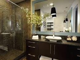 walk in shower small bathroom designs wall mounted dark brown