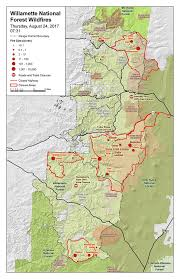 a map of oregon fires activity could increase today and tomorrow as warm and