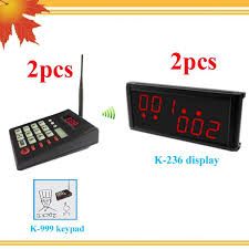2017 wireless queue system for fast food restaurant design with 2
