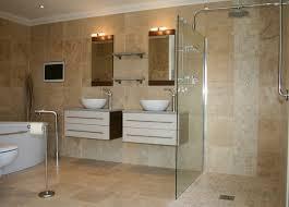 Modern Tiled Bathroom Beautiful Tiled Bathrooms On Travertine Tiles Modern Tile