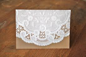 paper invitations diy paper doily invitations