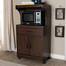 kitchen storage cabinet cart brown wooden microwave cart rolling kitchen storage shelf stand utility cabinet
