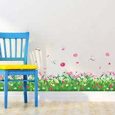aliexpress com buy diy wall stickers home decor nature aliexpress com buy diy wall stickers home decor nature colorful flowers grass dragonfly stickers muraux 3d wall decals floral pegatinas de pared from
