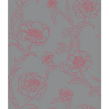 Pink Removable Wallpaper peonies modern classic pink grey floral removable wallpaper
