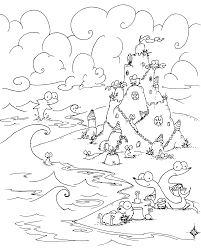 Coloring Page Sea Creatures Building A Sand Castle On The Beach Sandcastle Coloring Page