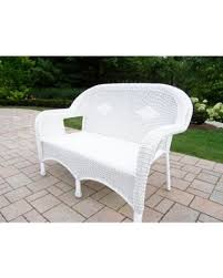Plastic Loveseat Outdoor Amazing Deal On Oakland Living Corporation Calabasas White Resin