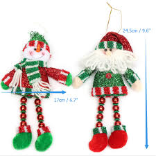 christmas hanging decoration long leg snowman santa clau home