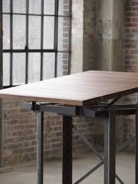 Custom Drafting Tables Hand Made Large Walnut Industrial Drafting Table Desk By