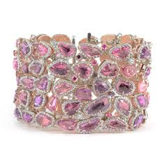 bracelet pink images Rare pink sapphire bracelet one of a kind jewelry wixon jewelers jpg