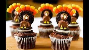 home made thanksgiving decorations decorated turkey cupcakes decorating of party