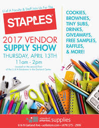 Uark Campus Map 2017 Staples Vendor Supply Show Set For April 13 University Of