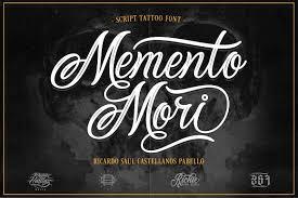Memento Mori - memento mori tattoo font script fonts creative market