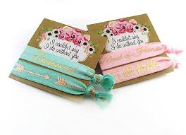 party favors wedding bridesmaid or of honor hair ties gift set gold