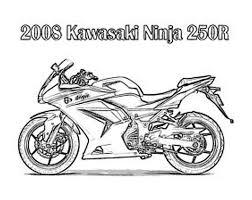 free motorcycle kawasaki ninja coloring pages bebo pandco