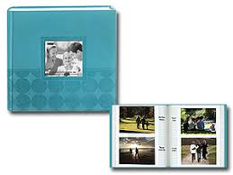 refillable photo albums da 200ec 4x6 circles embossed photo album