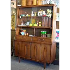walnut china hutch garrison furniture co vintage american
