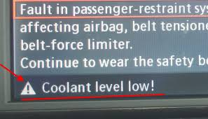 coolant warning light bmw how to check bmw coolant level low warning