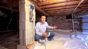 Basement Moisture Control Matthews Home Gets A Crawl Space Moisture Control System Youtube