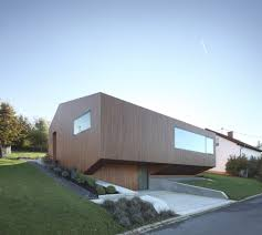 Home Decor Germany by Contemporary Approach Minimalist House With Unusual Shape In