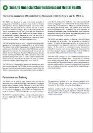 tool for assessment of risk adolescent tasr a teen