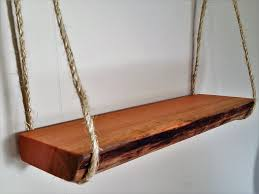 reclaimed wooden shelf hanging shelf natural wood shelf