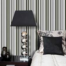 Black And White Striped Wallpaper by Marrakech Stripe Wallpaper Black U0026amp Grey Luxury Textured