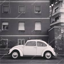 volkswagen car black old volkswagen car near the house black and white u2013 stock