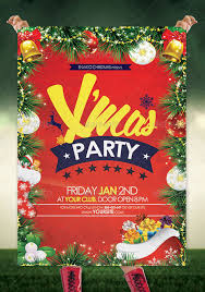 christmas party flyer template lizardmedia co