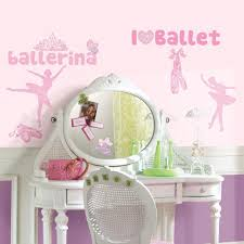 roommates ballet wall stickers with glitter childsmart roommates ballet wall stickers with glitter