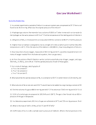 13 best images of combined gas law worksheet answers ideal gas