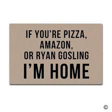 Doormat Entrance Floor Mat If YouRe Pizza Amazon Or Ryan - Decorative floor mats home