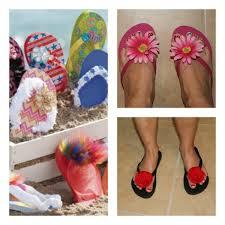 cute embellished flip flops for summer anne crane kids crafts
