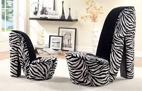 Zebra Accent Chair High Heel Design Accent Chair In Zebra Print