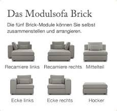 sofa selbst zusammenstellen brick from sitzfeld a modular furniture collection future