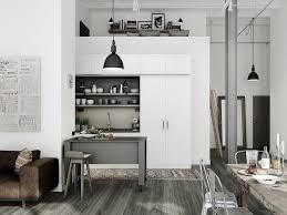 elegant modern industrial kitchen design with white wall norma