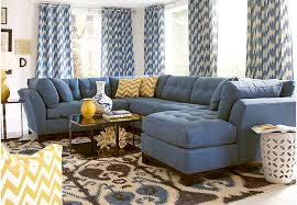 cindy crawford living room sets cindy crawford home metropolis indigo 4 pc sectional living room