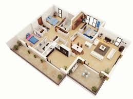 house design plans 3d 3 bedrooms house interior design 3 bedroom plans home combo