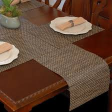 Coffee Table Runners Table Runner Driftwood Black And Tan Wipeable Table Runner At