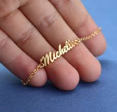 gold name bracelet name bracelet gold plated personalized name bangle bracelet in