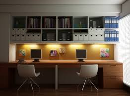 Floating Office Desk White Wooden Floating Shelves With Maple Wooden Desk And Sleek