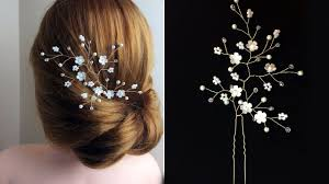 how to make bridal hairstyle how to make hair vine pin comb bridal headpiece easy diy youtube