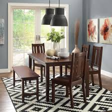 Dining Room Table Covers Protection by Better Homes And Gardens Bankston Dining Table Mocha Walmart Com