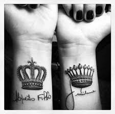 tattoo of queen and king 61 iconic king and queen tattoo ideas