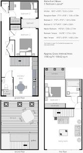 3 bedroom layout waterfront mews n1