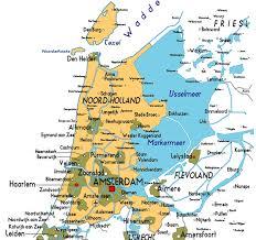 netherlands map cities map of noord in netherlands