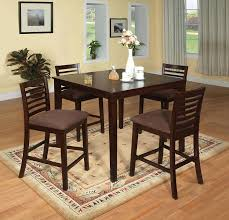 Tall Dining Room Sets by Amazon Com Furniture Of America Ramone 5 Piece Counter Height