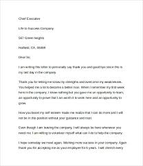 thank you letter after resignation important note
