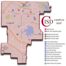 isd map about coppell isd attendance zone